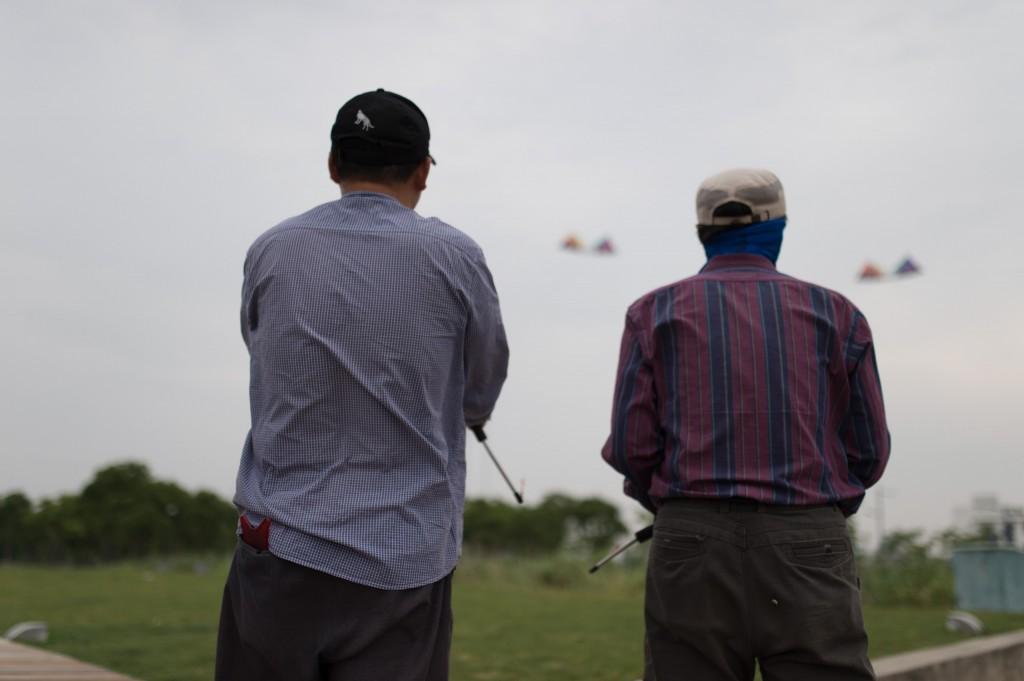 上海D4s凧揚げ風景