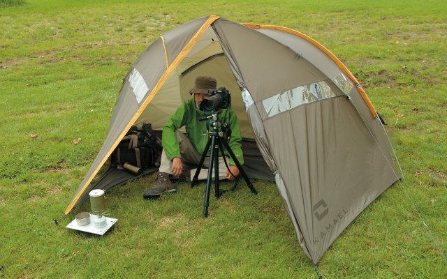 写真とテント